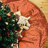 yuboo Orange Christmas Tree Skirt, 48 Inch Sequin