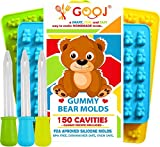 Kyпить GOOJ Gummy Bear Candy Molds 3 Pack + 3 Droppers, (Printed Recipe Included) Gumdrop Jelly Molds, Chocolate Molds, Candy Silicone Molds & Ice Cube Trays – Bear на Amazon.com