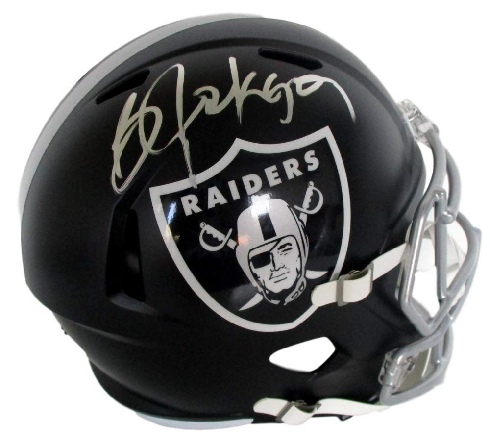 Bo Jackson Oakland Raiders Signed Autograph Full Size Blaze Speed Helmet Jackson GTSM Hologram JSA Witnessed Certified