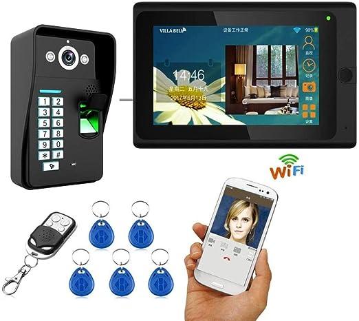 Timbre visual, Cámara la casa inteligente Wifi Videoportero ...