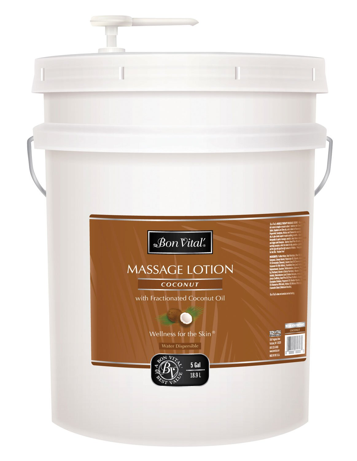 Bon Vital BVCOL5G Coconut Lotion, 5 Gallon by Bon Vital