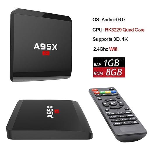 3 opinioni per ANTSIR A95X R1 Android 6.0 TV Box Amlogic Rockchip RK3229 Quad- core Cortex A7