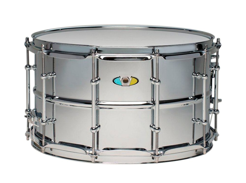 Ludwig Supralite Steel Snare Drum 14 x 8 in. by Ludwig