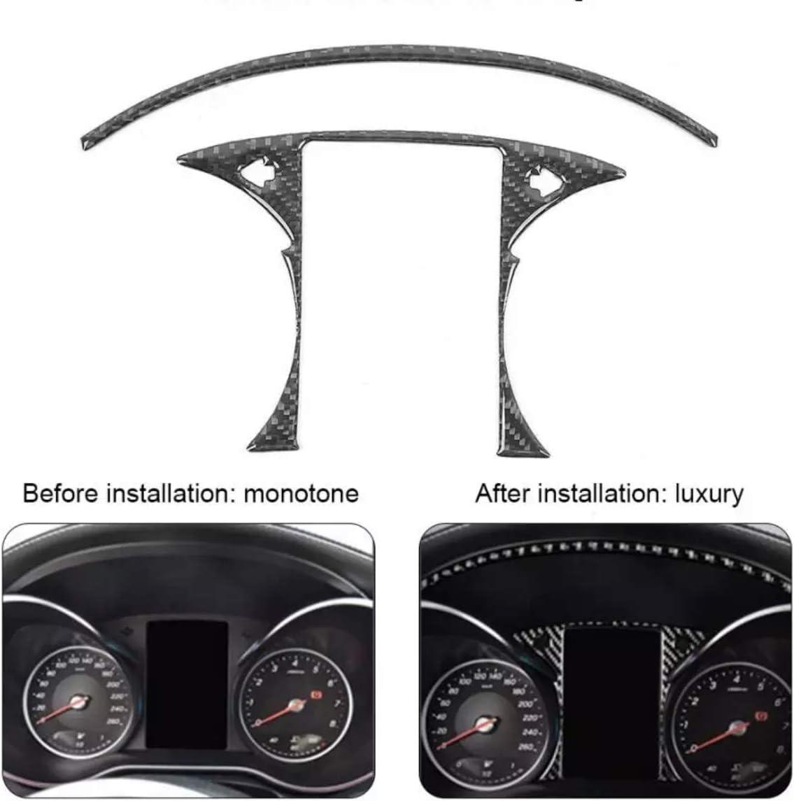 FFZ Parts Flex Carbon Tacho Rahmen Blende Abdeckung Passend F/ür C Klasse W205 GLC X253