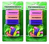 Dixon Ticonderoga Office and School Eraser Combination Set, 2 Packs of 15 Eraser Multi-Pack, Multicolored (38931) (Bundle)