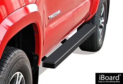 Bars In Tacoma >> Aps Iboard Running Boards Nerf Bars Side Steps Step Bars For 2005 2019 Toyota Tacoma Double Crew Cab Pickup 4 Door Black Powder Coated 4