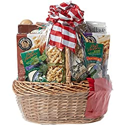 Viva Italiano - Deluxe Italian Gift Basket with Pastas, Linguini, Sauce, Oil, Bread Sticks and More, 16 Pounds