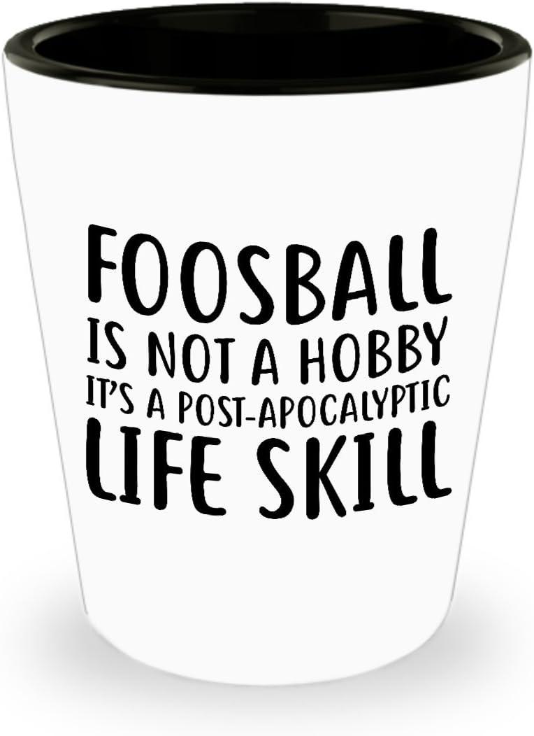 Funny futbolín – Vaso de chupito no un hobby – regalo único de Inspirational sarcasmo para adultos: Amazon.es: Hogar