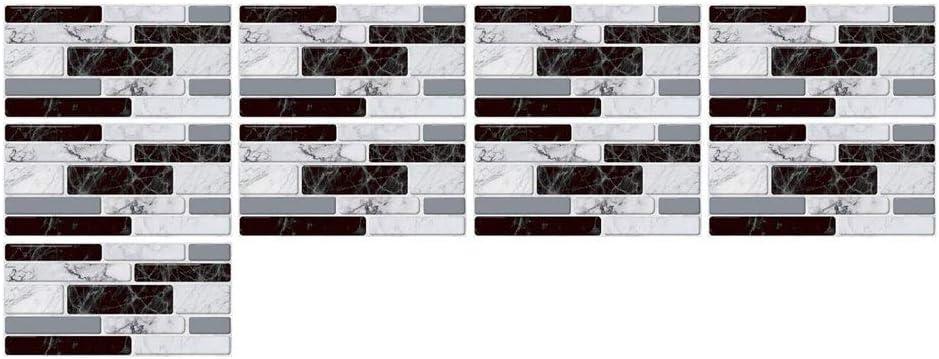 A,9 BESTINE Azulejo Peckplash Peel /& Stick 10 cm Simulaci/ón Efecto 3D Cocina Ba/ño Decoraci/ón Impermeable Adhesivo Aceitoso DIY Etiqueta 20