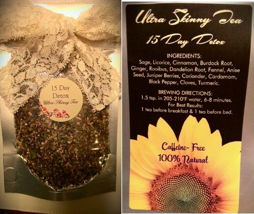 Ultra Skinny Tea Detox- 15 Day - Organic- Aids In Weight Loss - Fast  Acting- Daily Cleanse - Best Detox Tea