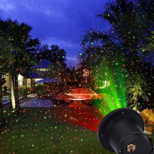 Starry Laser Lights, Hosyo Aluminum Outdoor Laser Christmas Light Star Projector Landscape (Christmas Projector Light)
