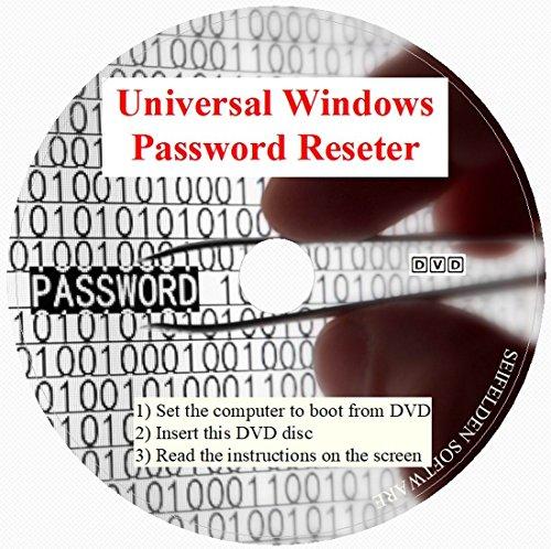 Universal Windows Password Reset DVD Disc Compatible for Windows 10, Windows 7, Windows Vista, Pro XP 32-bit 64-bit All Password Recovery Dell HP Acer Asus Sony Gateway Toshiba IBM Lonovo ⭐⭐⭐⭐⭐ ()