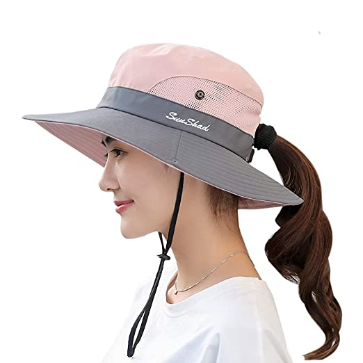 714e455fa HAPEE Womens Garden Hat,Both Sides wear, Foldable Wide Brim UPF 50+,pefect  for Women Fishing