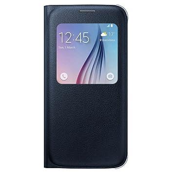 e3b9020b65b Samsung S View - Funda para Samsung Galaxy S6, color negro zafiro: Amazon.es:  Electrónica