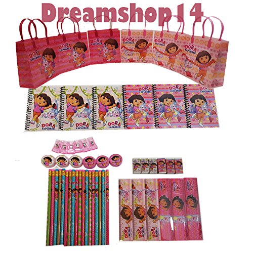 Dora the Explorer Goody Bag Party Favor Sets (6 Sets - 54 pcs)