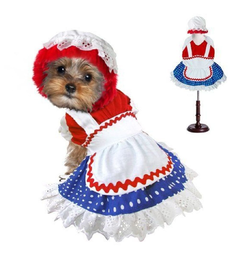 Ragdoll Costumes For Dogs Petticoat Polka Dot Dress Or Plaid Boy Jumpsuit