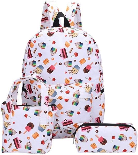 d66cec0715 3Pcs zaini scuola di tela modello studente ragazza moda + borsa a mano + sacchetto  della penna-borsa scuola studenti-Borsa da scuola di grande ...