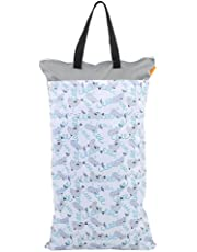 59dd6e5086385b Cloth Diaper Bag, Large Hanging Waterproof Wet Dry Reusable Washable Baby  Cloth Diaper Bag(
