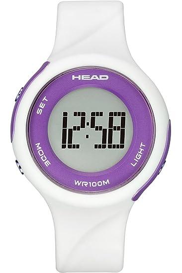 HEAD Reloj Digital para Mujer de Cuarzo con Correa en Caucho HE-107-02: Amazon.es: Relojes