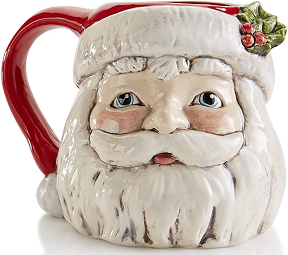 Antique Style Santa Mug Paint Your Own Wintery Holiday Ceramic Keepsake