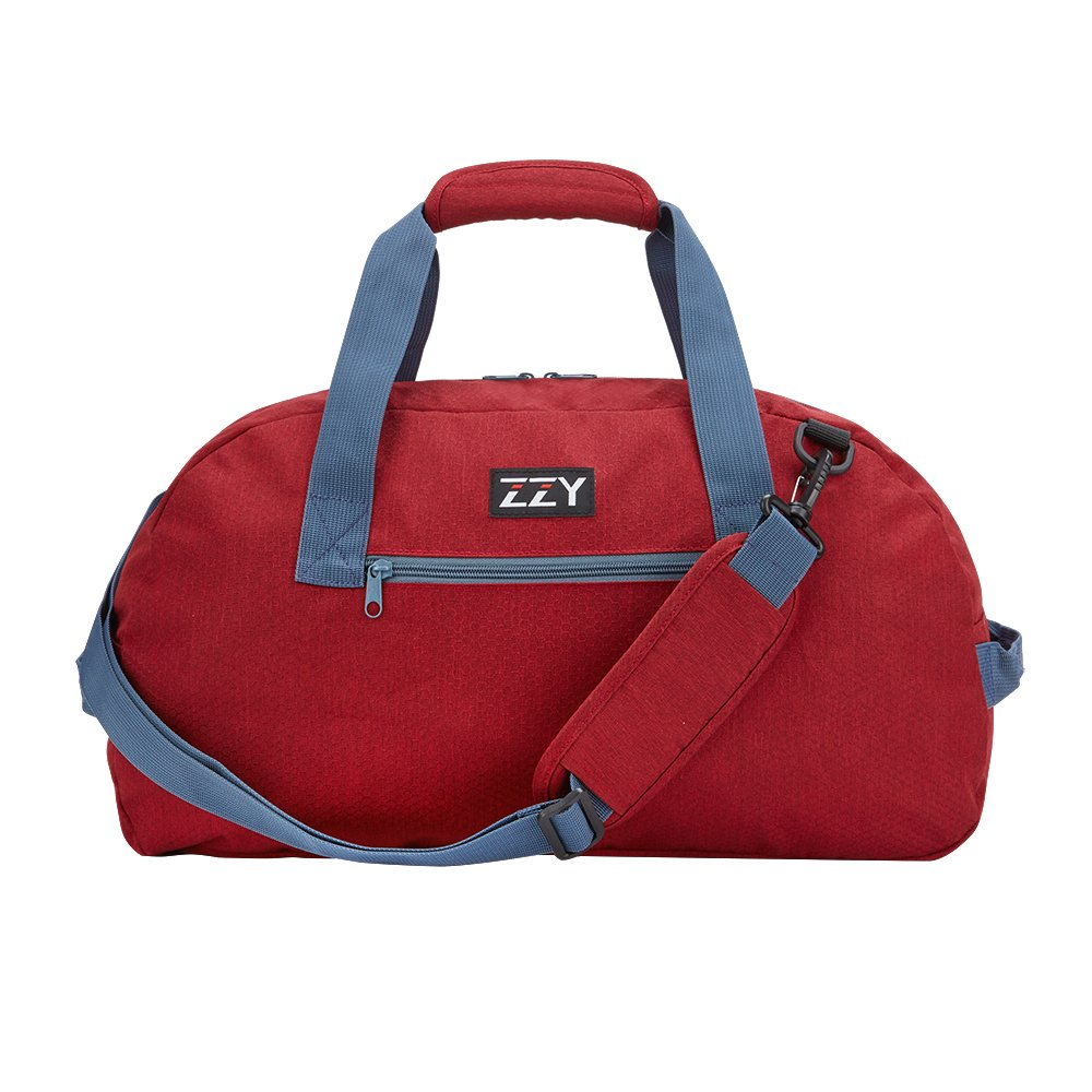 Small Gym Bag for Sports Duffels Lightweight with Durable Nylon(Red-35L)