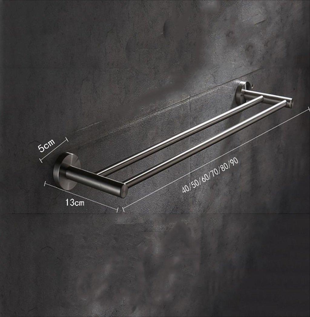 注目のブランド タオルバー/ダブルロッドステンレス鋼の厚いバスルームタオルバー壁掛けのバスルームシェルフ (サイズ さいず : 90 90** 13 B07G3TRMYC* 5cm) 90*13*5cm B07G3TRMYC, くすりのチャンピオン:7a9f9d29 --- arianechie.dominiotemporario.com
