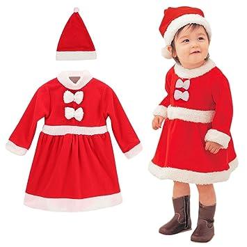 edb83352c8996 (ビモラ)VIMORA クリスマス 子供服 帽子付き 赤ちゃん サンタ コスチューム 女の子 男の子 寝相 衣装