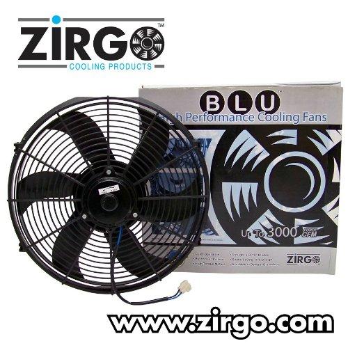 Zirgo 10209 14'' 2122 fCFM High Performance Blu Cooling Fan by Zirgo