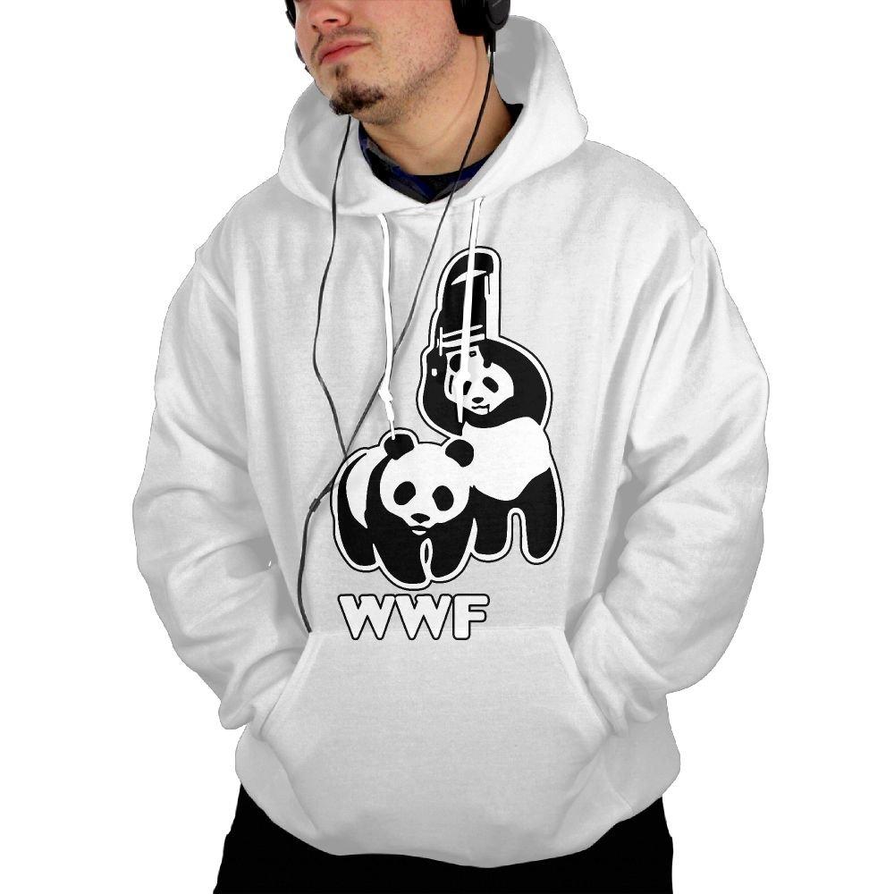 Mens Casual Fleece, WWF Funny Panda Bear Wrestling Coat With Pockets by NYY&088