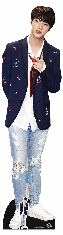 Star découpes Cs748Kim Seok-jin Cravate BTS Bangtan garçons Taille réelle en carton de la découpe, Multicolore