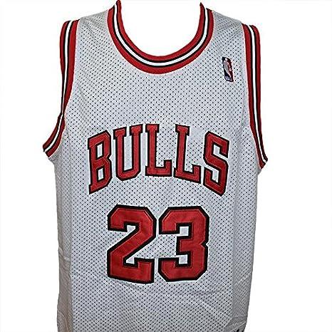 camiseta de tirantes blanca NBA Retro Vintage - Michael Jordan - Chicago Bulls - Talla L: Amazon.es: Coche y moto
