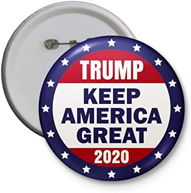 """Donald Trump 2020 Pinback 2.25/"""" Button Pin President Campaign Keep America Great"""