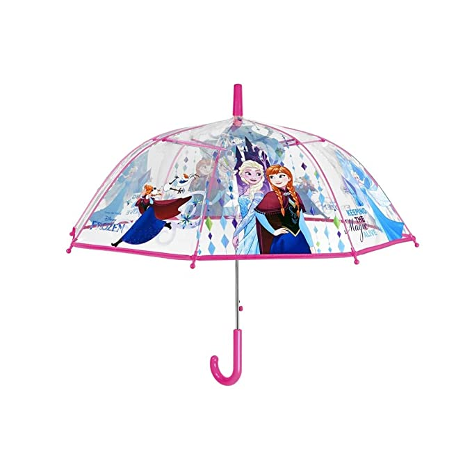 Paraguas largo domo manual poe bebé FROZEN PERLETTI fuxia O95