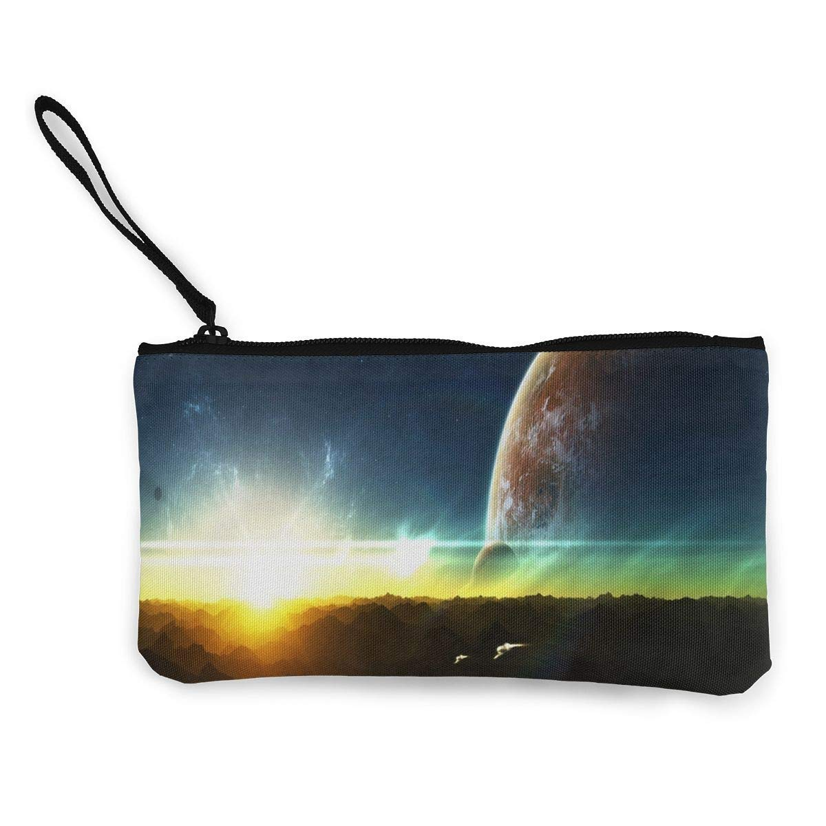Coin Purse The Beautiful Light of Outer Space Girl Zip Canvas Purses TravelAmazing Holder