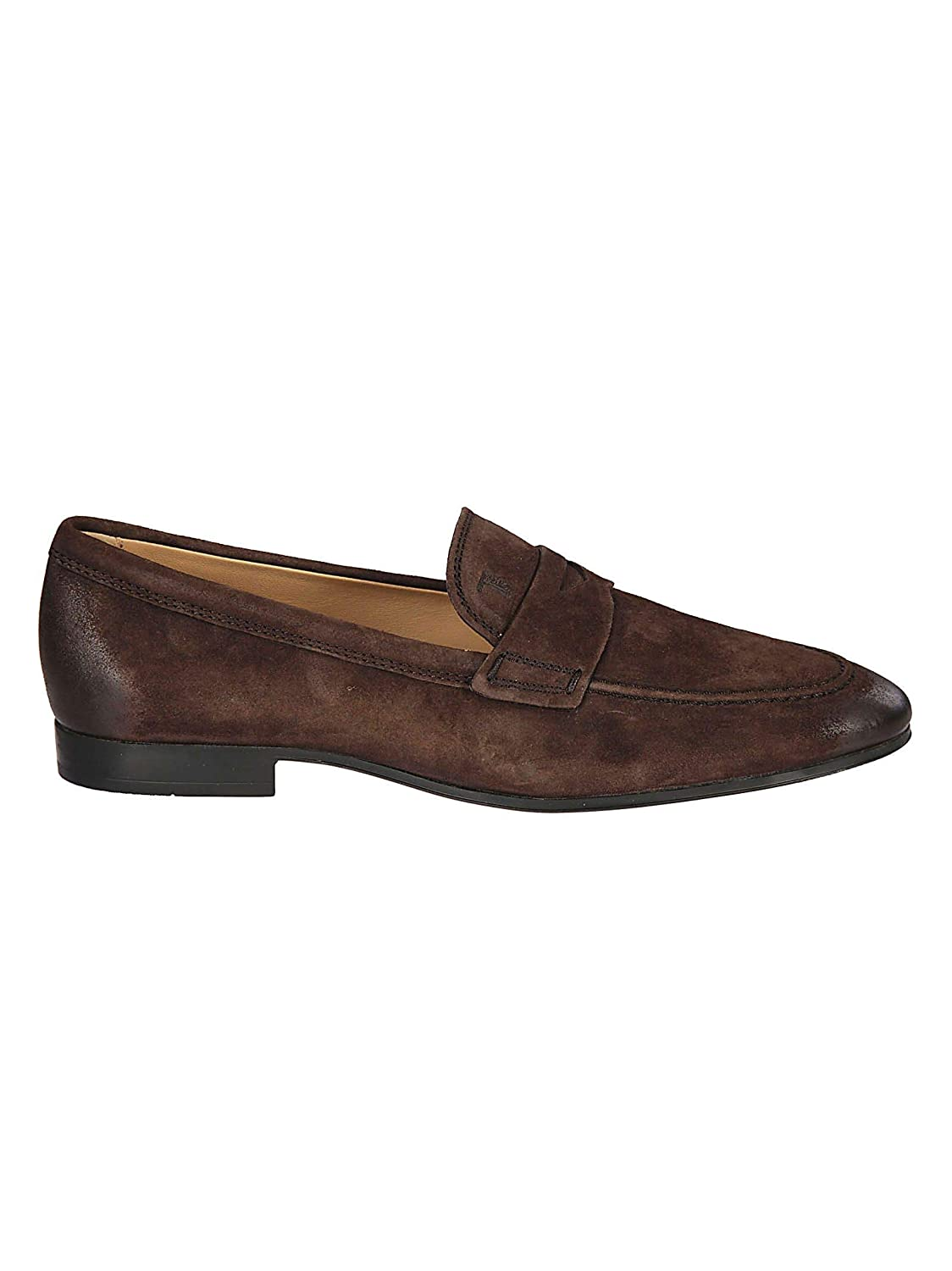 - Tod's Men's XXM06B0Y2900LVS807 Brown Suede Loafers