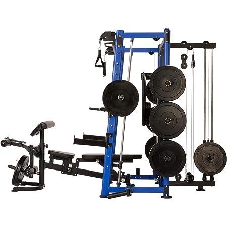 Multiestación Maxxus 9.1 - estación de musculación con banco multifuncional de entrenamiento - press de banco máx. 300 kg. Barra móvil de tracción, ...