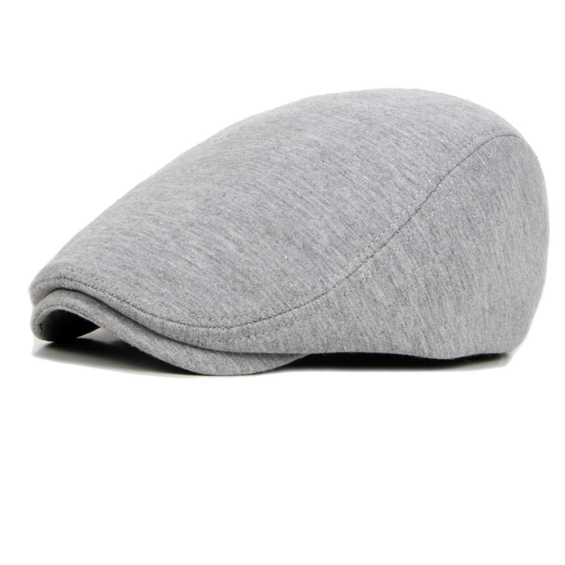 Eohak Mens Cotton Flat Cap Driving Hat Cabbie Newsboy C