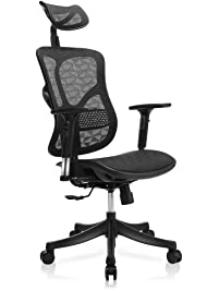 tomcare office chair ergonomic mesh office chair modern with rotation headrest adjustable backrest armrest