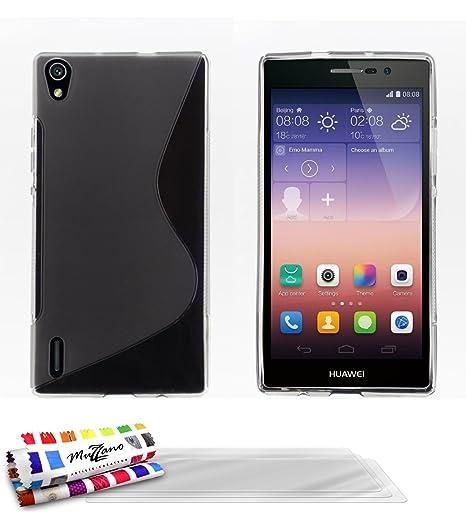 Muzzano F868498 - Funda para Huawei Ascend P7, incluye 3 ...