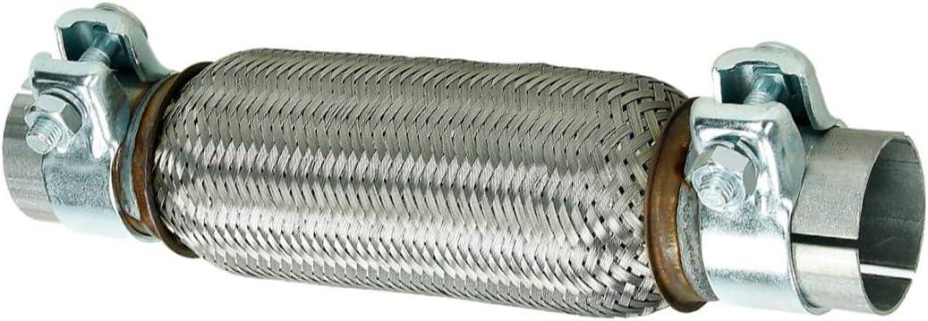 ECD Germany Flex tube en Acier inoxydable Interlock 45,5 x 200 mm avec Collier de Serrage