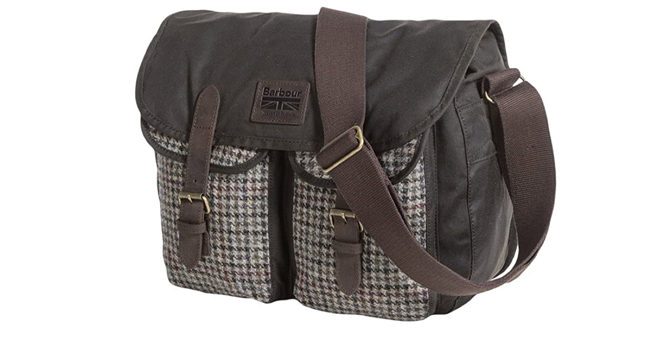 8074242d42e Barbour Waxed Cotton Leather Tarras Bag | The Shred Centre