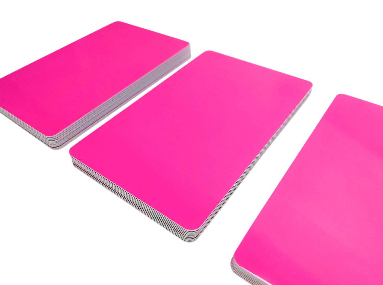 5/| in plastica PVC Carte NEU scegliere da 20/diversi colori Bianco 85 x 54 x 0,76 mm Rot
