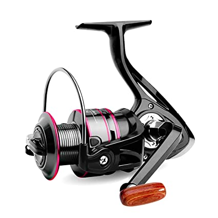 FishOaky Carrete de Pesca Spinning, 3000H Izquierda/Derecha Intercambiable, Plegable, Anticorrosión,Carrete Giratorio de Agua Salada y de Agua Dulce, ...