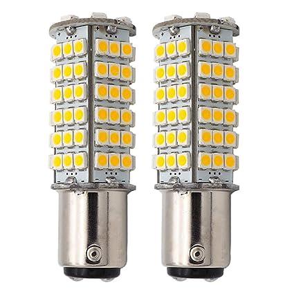 High Bright Car LED Bulb 102-3528 SMD DC12V Cool White Pack Ba15d 1076 1142