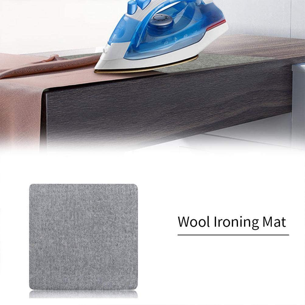 CJMING Wool Ironing Mat, Ironing Cloth, Pure Wool Ironing Mat Cushion For High Temperature Portable For-Suitable For Steam Irons 13*14 Inch