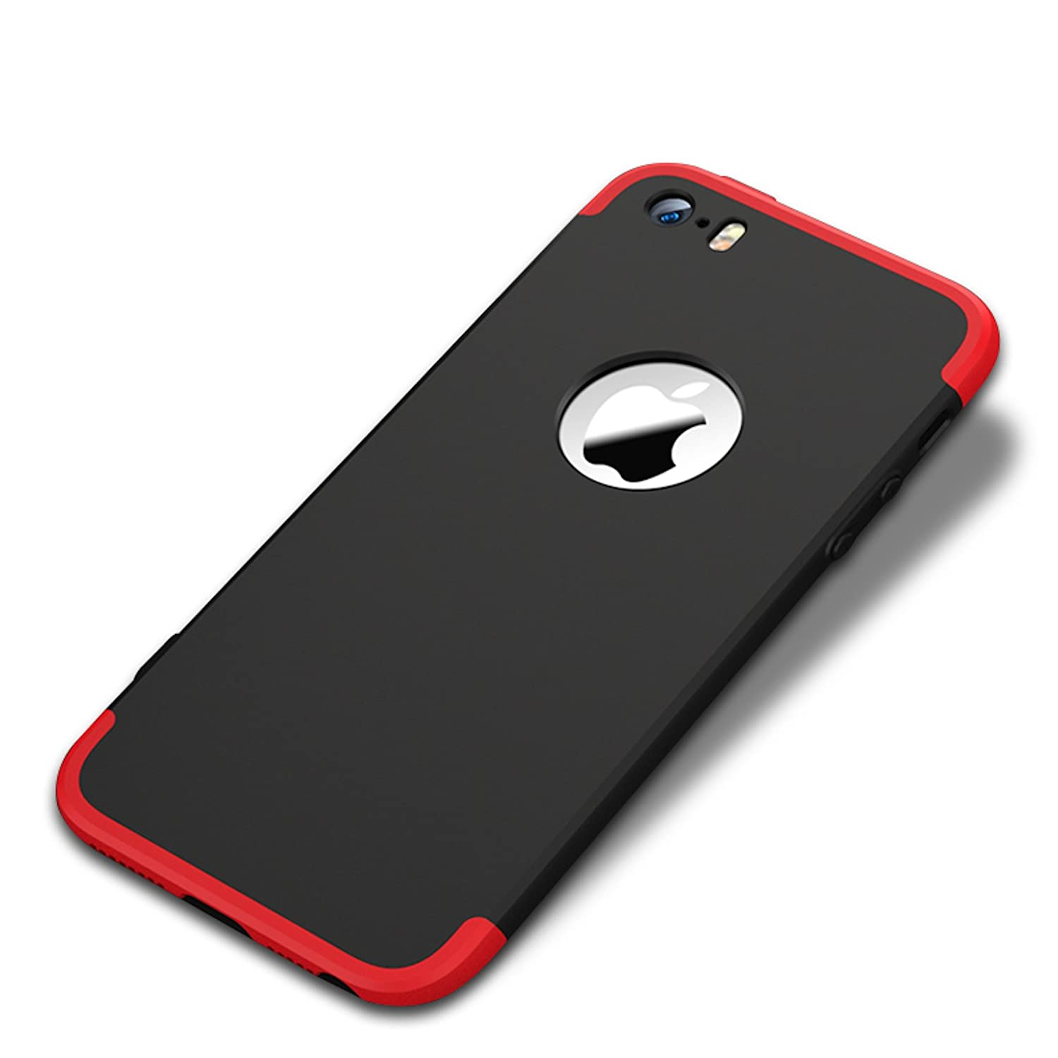 sports shoes 6e13c b2b67 Bounceback ® Apple iPhone 5 / 5s / SE Case 3in1 360º Anti Slip Super Slim  Back Cover for Apple iPhone 5 / 5s / SE (Black&Red)