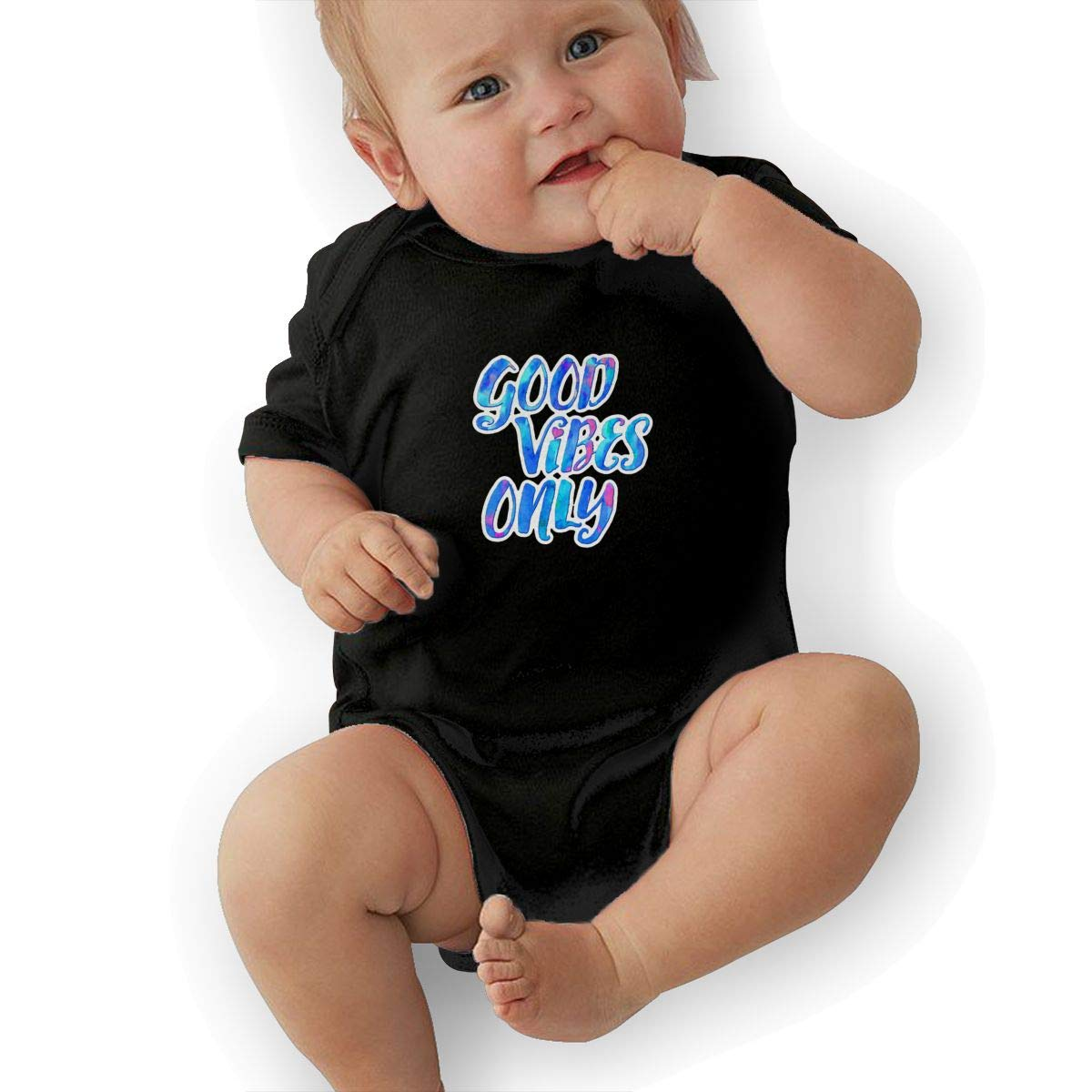 Good Vibes Only Baby Pajamas Bodysuits Clothes Onesies Jumpsuits Outfits Black