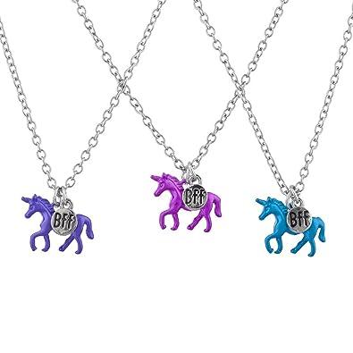Lux Accessoires Argente Bleu Violet Rose Licorne Bff Best Friends