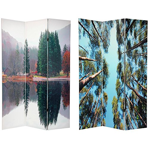 Oriental Furniture 6 ft. Tall Double Sided Trees Room Divider