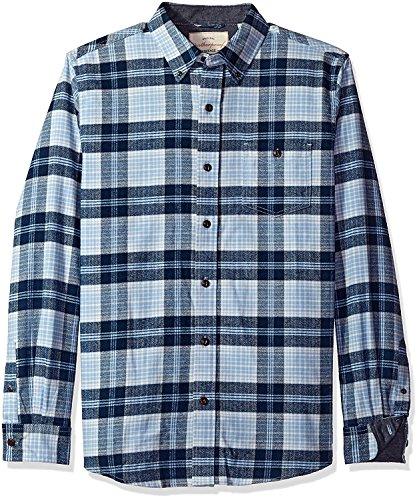 (Weatherproof Vintage Mens Plaid Flannel Shirt,Powder Blue, Medium)
